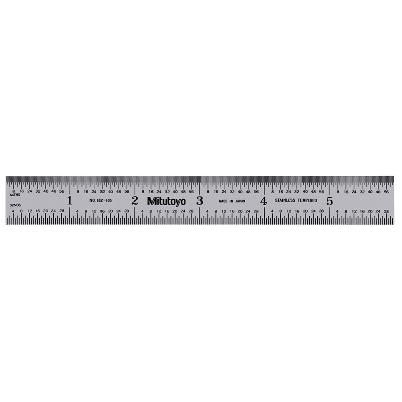 Mitutoyo 182-105 | Wide Rigid Steel Rule 150mm/ 6 inch