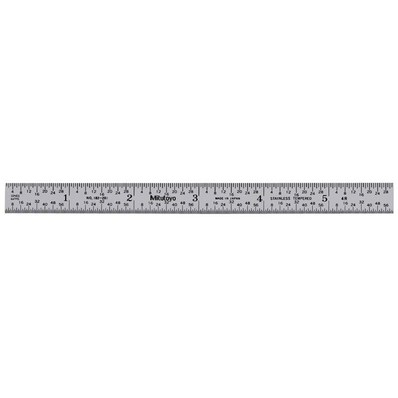 Mitutoyo 182-201 | Fully Flexible Steel Rule 6 inch