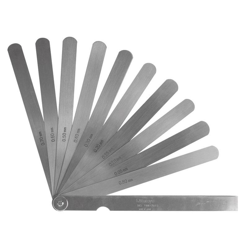 Mitutoyo Feeler Gauge 0.05-0.8mm, 10 leaves