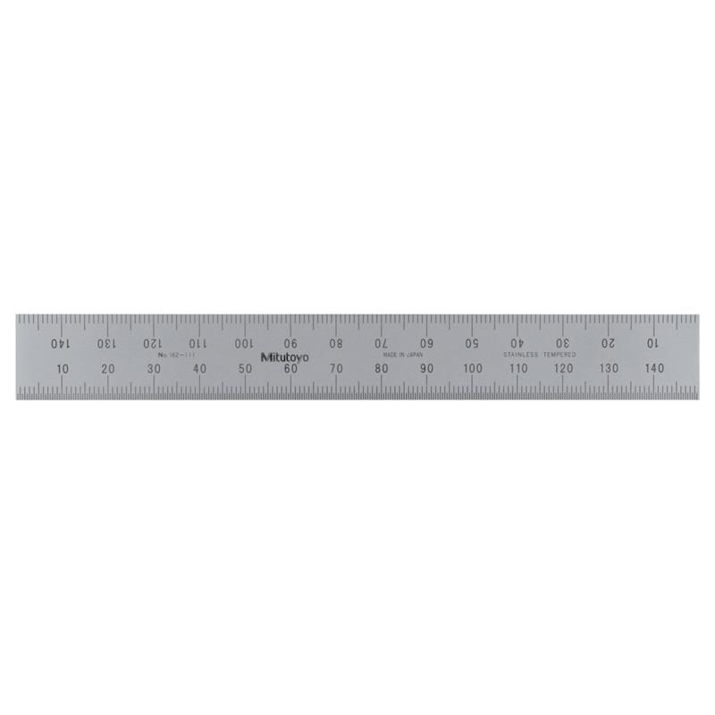 Mitutoyo 182-111 | Wide Rigid Steel Rule 150mm
