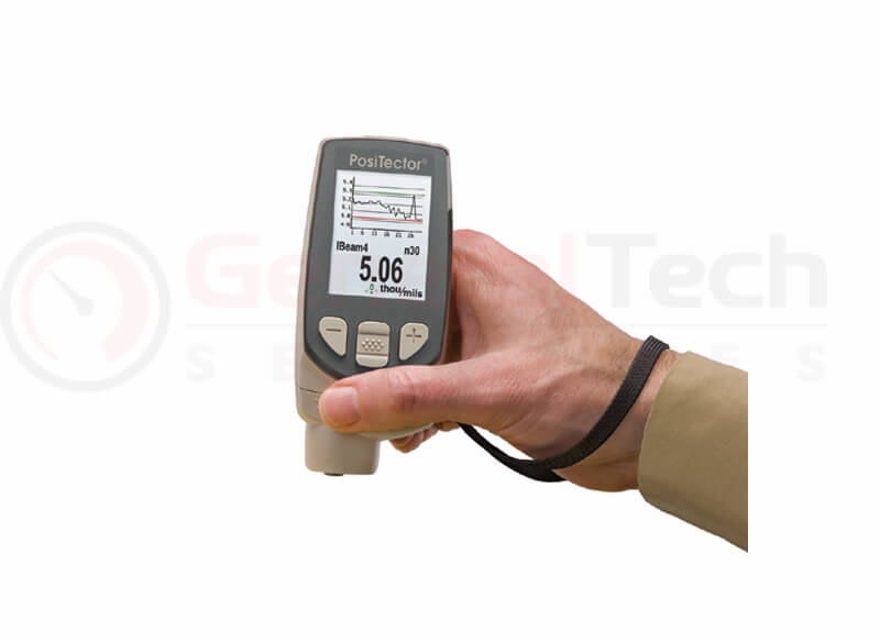 Coating Thickness Gauge, All Metals - 0 to 60 mils / 0 to 1500 microns